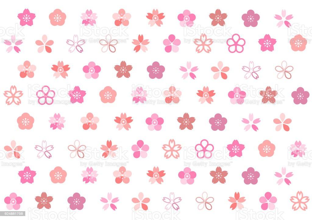 Illustration of cherry blossoms vector art illustration