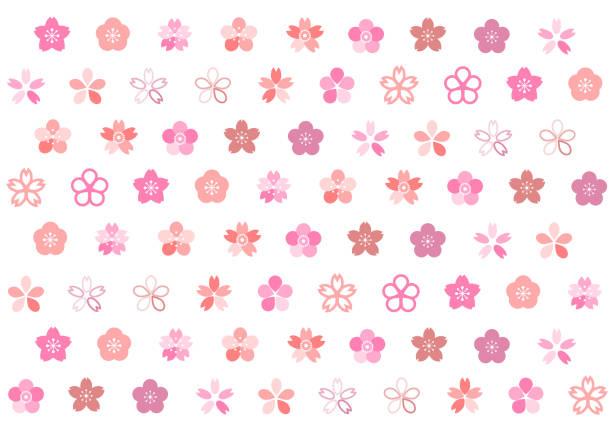 Illustration of cherry blossoms Illustration of cherry blossoms peach blossom stock illustrations