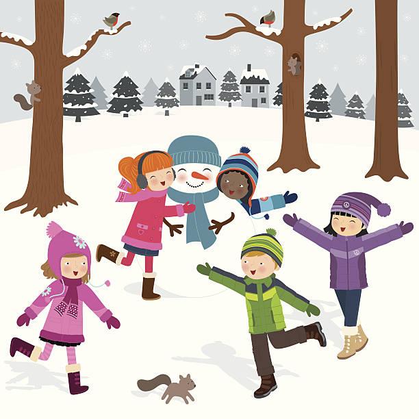 winter-spaß - kinderstiefel stock-grafiken, -clipart, -cartoons und -symbole