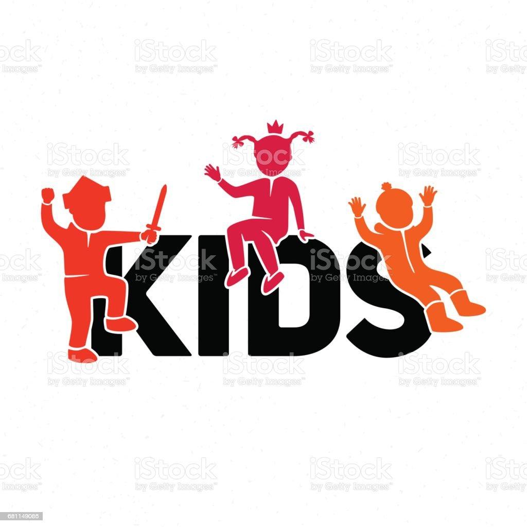 Illustration of children in the game vector art illustration