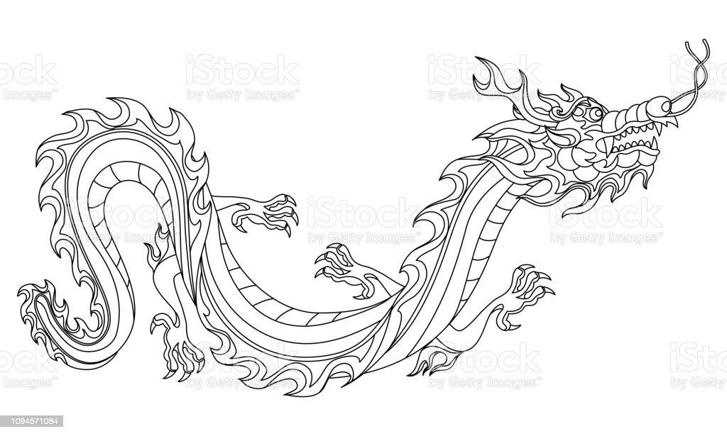 chinesische drachen bilder zum ausmalen - kinder zeichnen