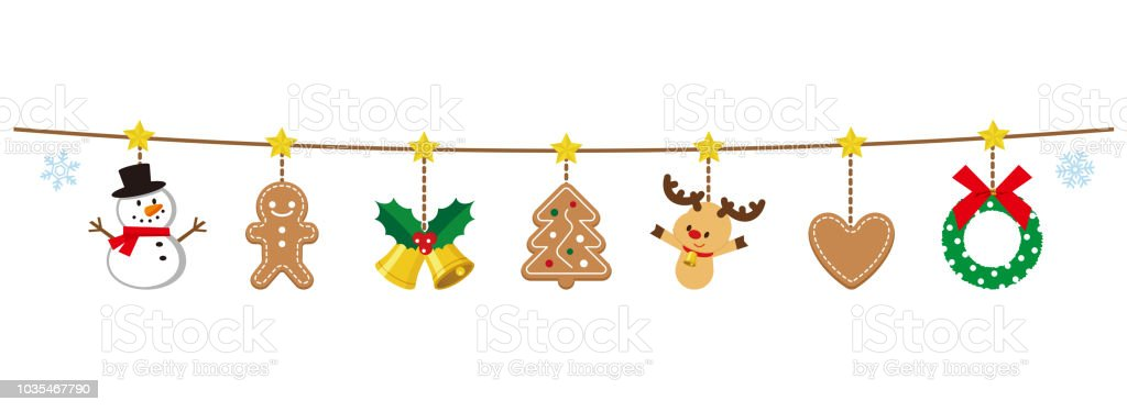 Illustration Of Christmas Garland Stock Illustration Download