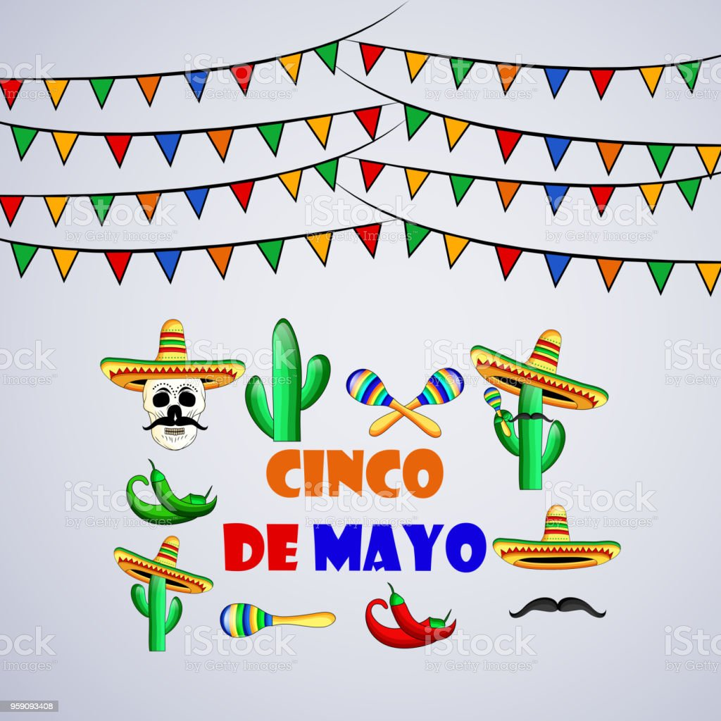 Illustration Of Cinco De Mayo Background Royalty Free Stock