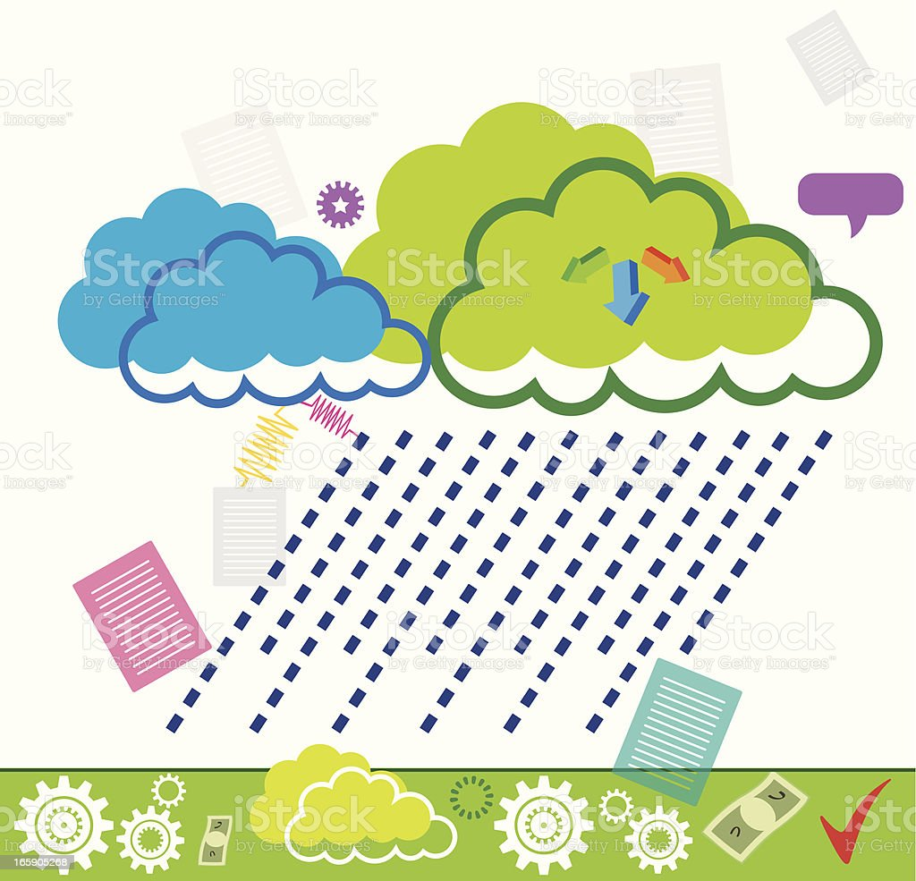 Illustration of Cloud Technology royalty-free stock vector art
