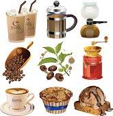 Illustration of coffee set