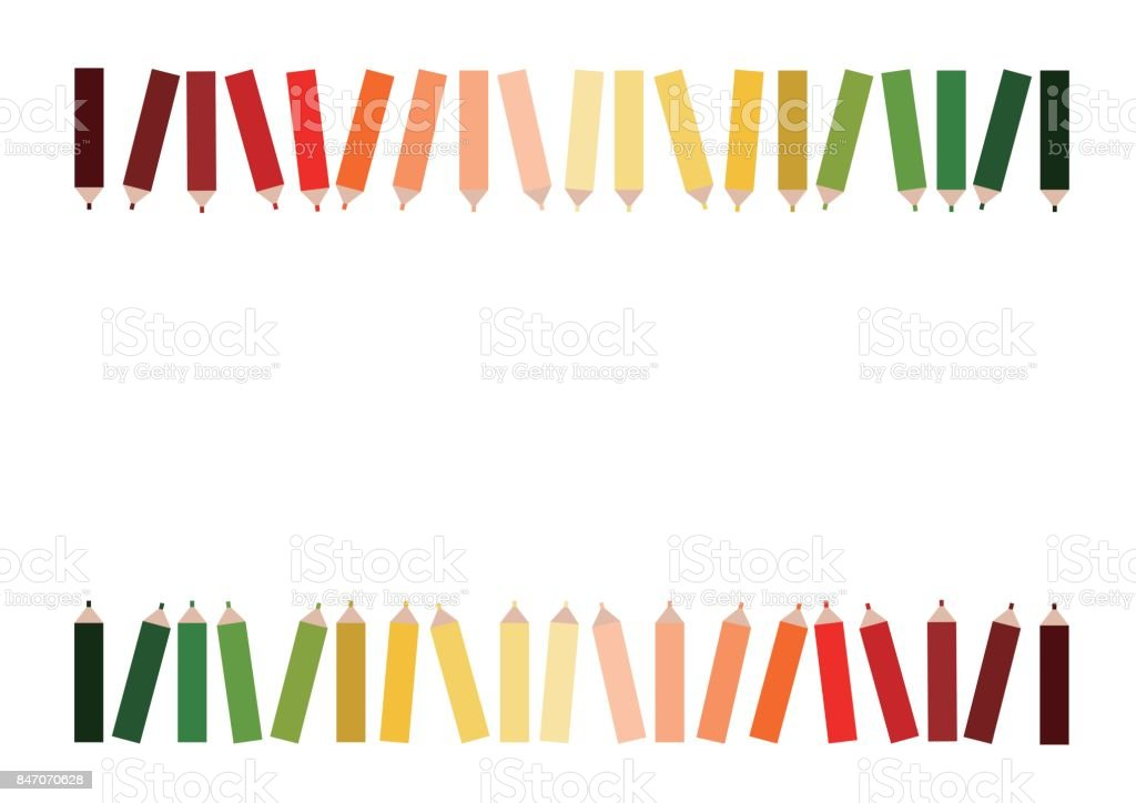 Illustration of color pencil vector art illustration