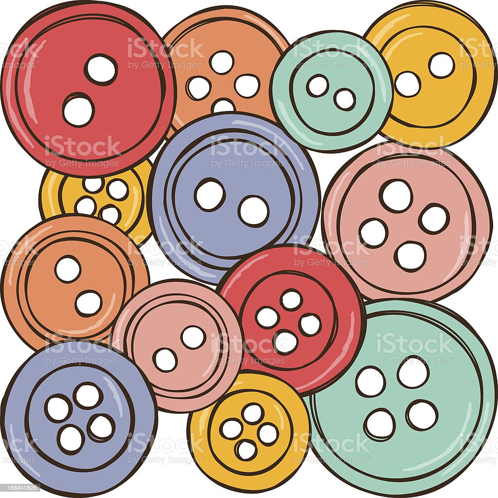 Illustration of colored buttons royalty-free stock vector art