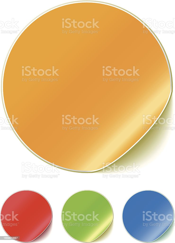 Illustration Of Colored Peeling Stickers vector art illustration