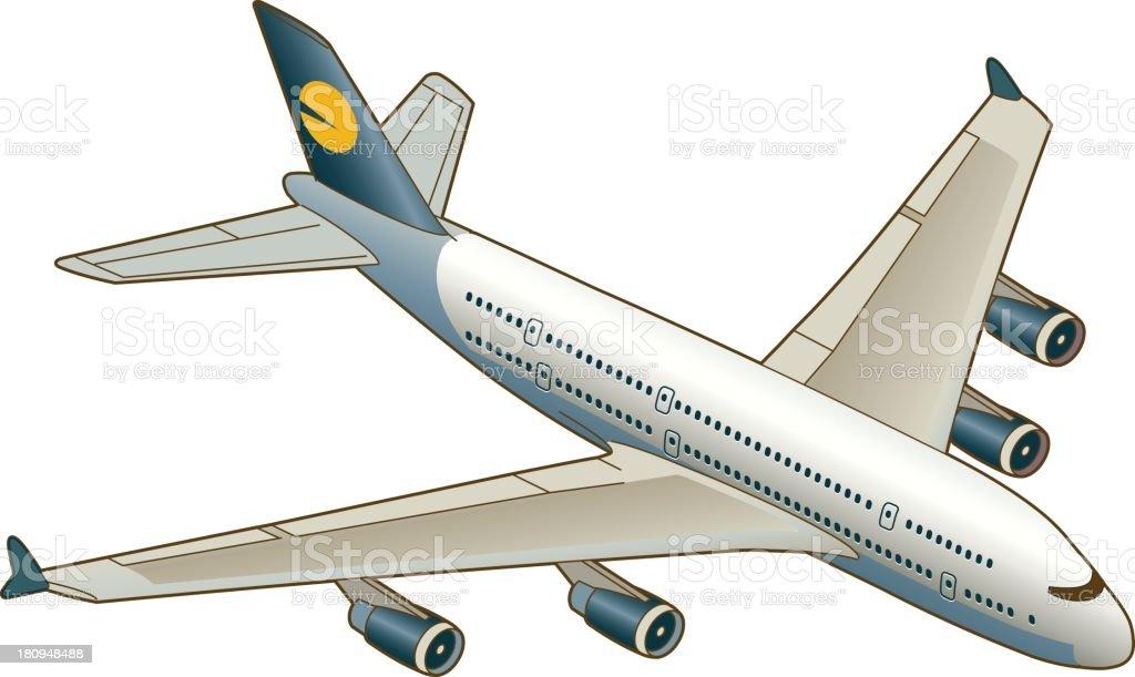 Avión - ilustración de arte vectorial