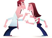 vector illustration of angry woman and man arguing…