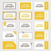 Set of coupon illustration.