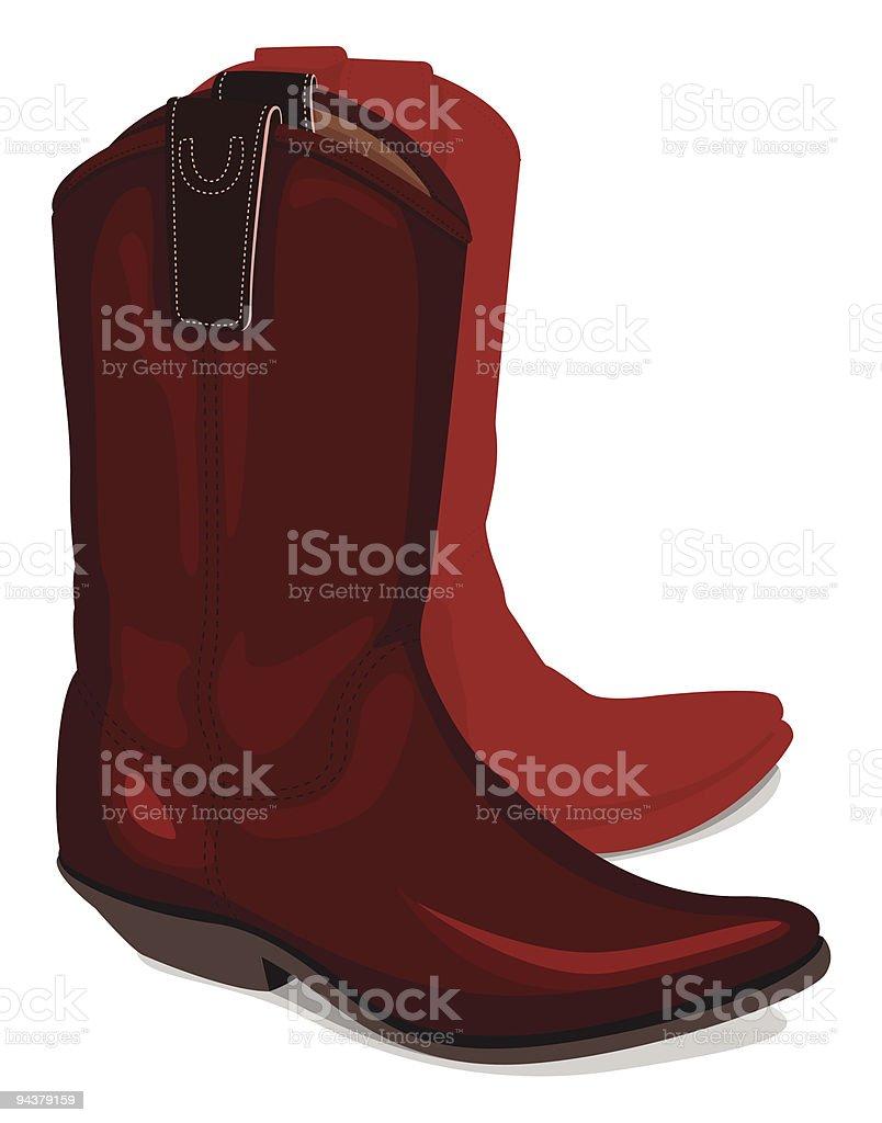 Illustration of cowboy boots vector art illustration
