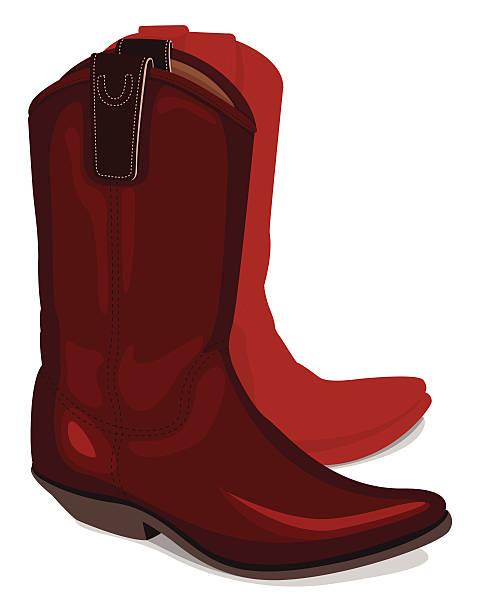 illustration des cowboy-stiefel - cowboystiefel stock-grafiken, -clipart, -cartoons und -symbole