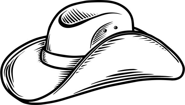 Illustration of cowboy hat isolated on white background. Design element for poster, card, banner, sign, emblem, label. Vector illustration Illustration of cowboy hat isolated on white background. Design element for poster, card, banner, sign, emblem, label. Vector illustration rancher illustrations stock illustrations