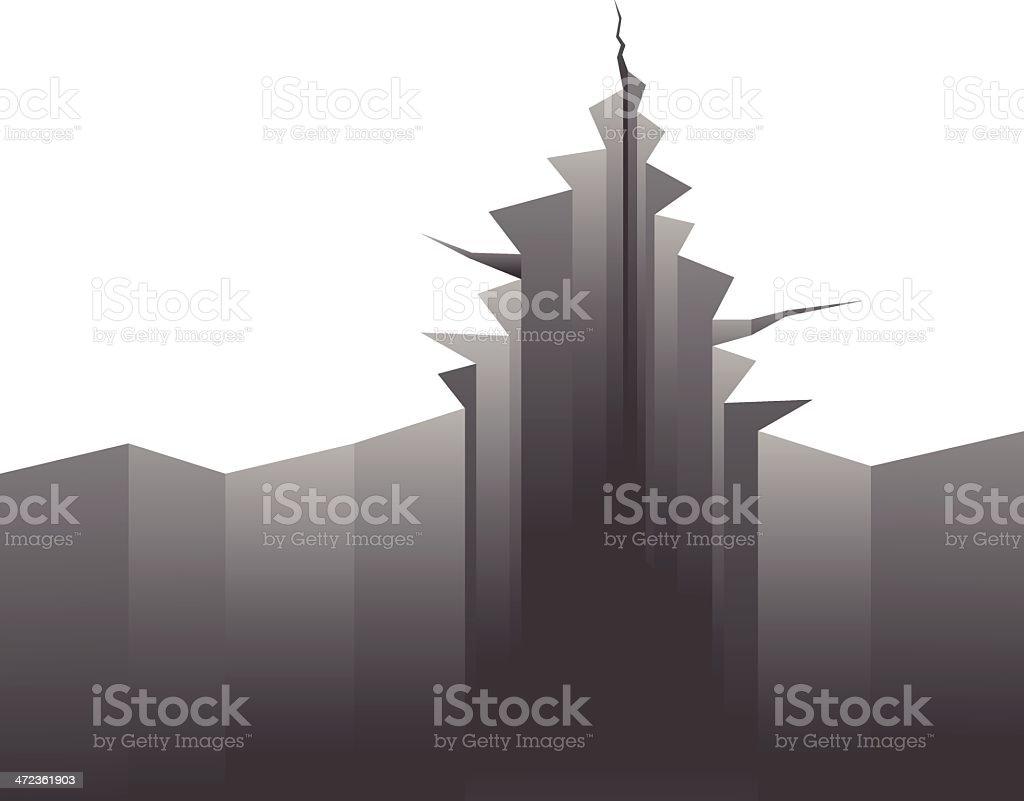 Terremoto - ilustración de arte vectorial