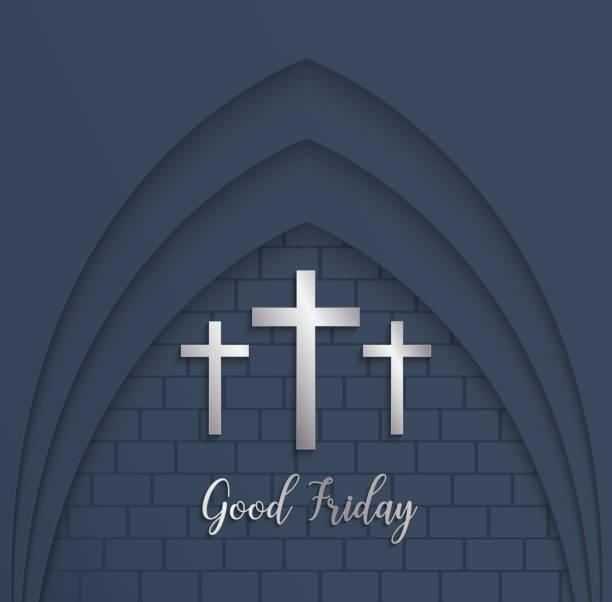 Illustration of Cross for Good Friday on  brick  background. Illustration of Cross for Good Friday on  brick  background.vector EPS10. nu stock illustrations