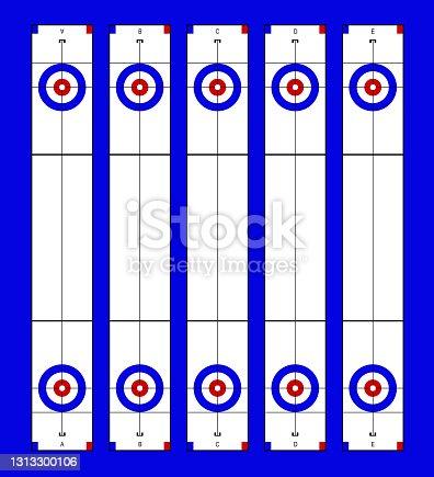 istock Illustration of curling stadium top view 1313300106