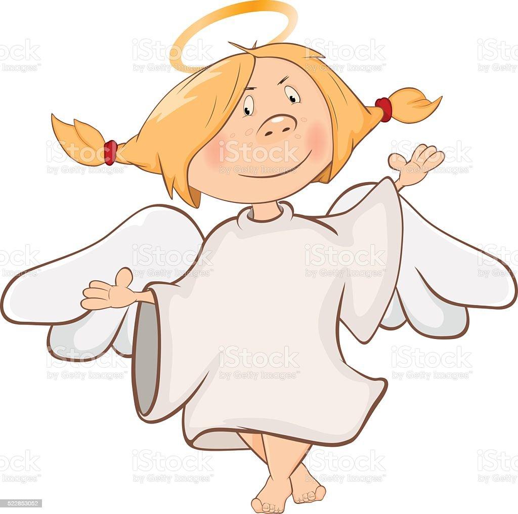 abbildung eines niedlich engel comicfigur stock vektor art und mehr bilder von avatar 522853052. Black Bedroom Furniture Sets. Home Design Ideas