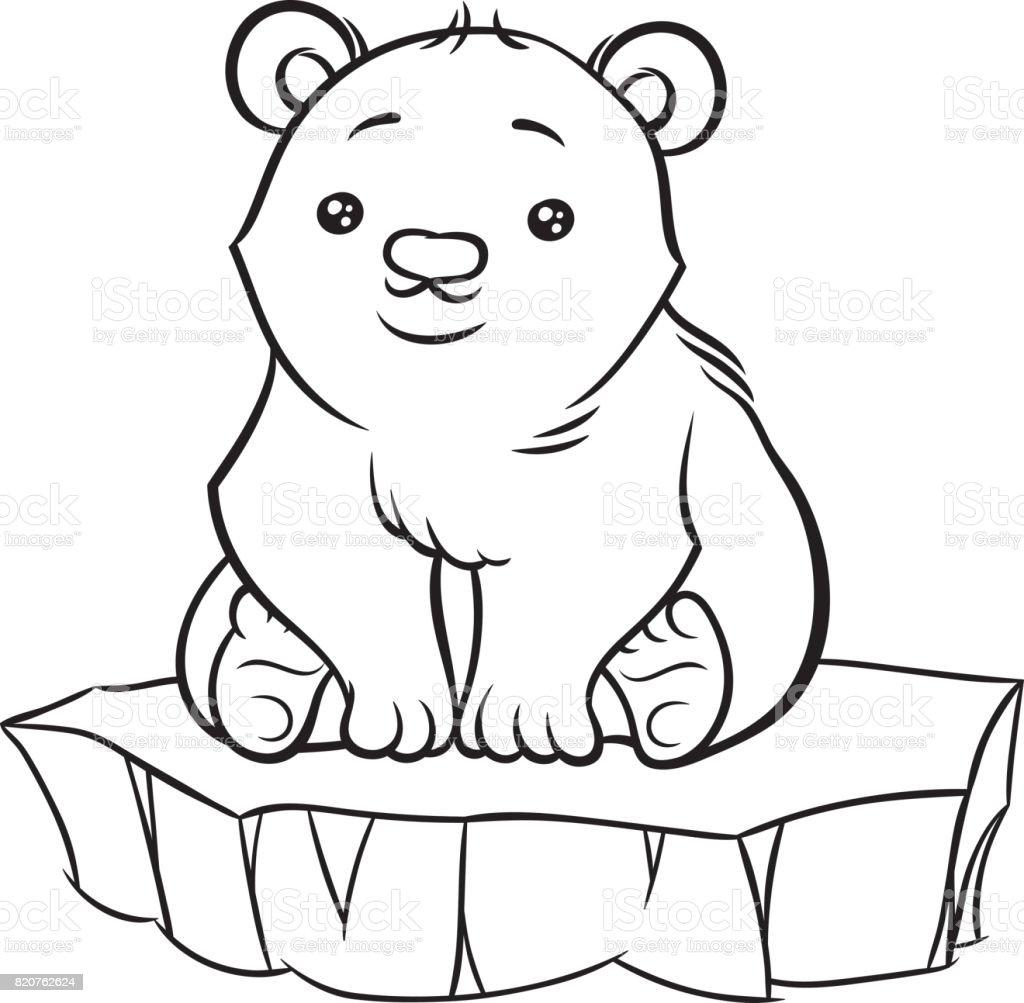 Illustration de b b mignon dessin anim ours polaire stock vecteur libres de droits 820762624 - Ours polaire dessin ...