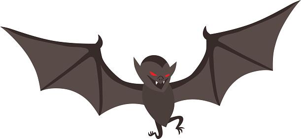 Illustration of Cute Cartoon Halloween bat vector