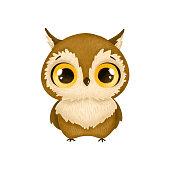 istock Illustration of cute cartoon owl 1304517673