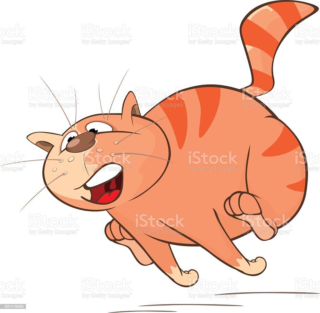のイラストレーションかわいい猫カットイラストのキャラクター の