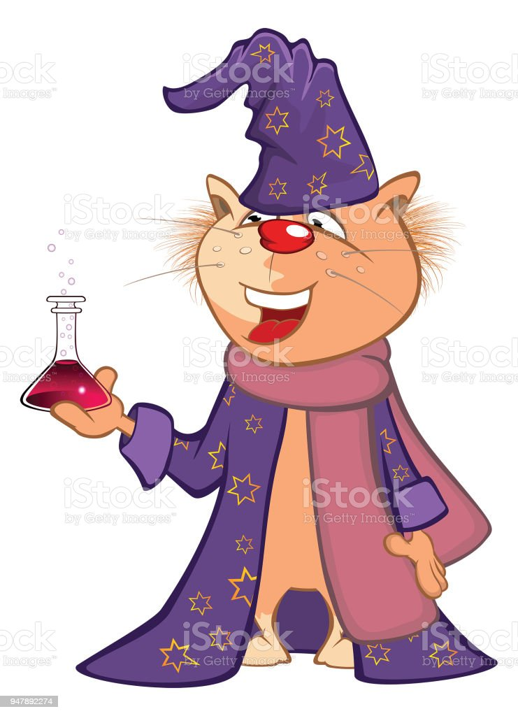 Illustration of  Cute Cat Cartoon Character vector art illustration