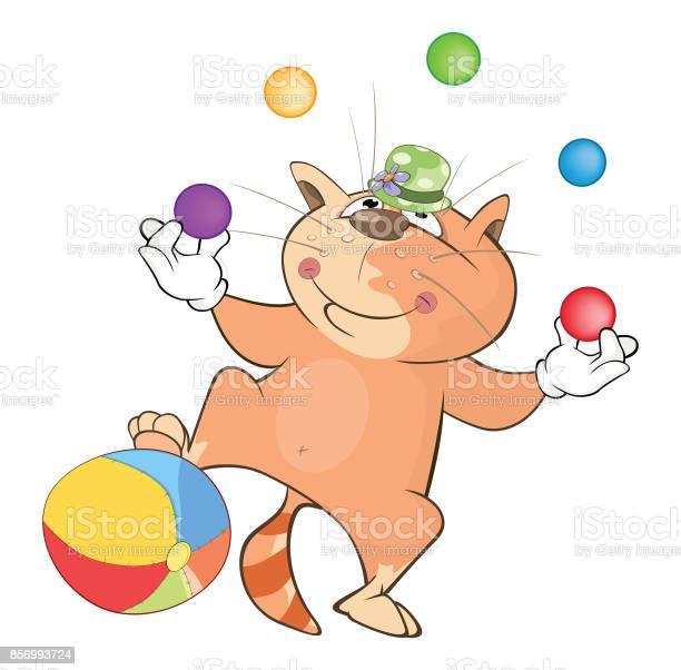Illustration of cute cat juggler cartoon character vector id856993724?b=1&k=6&m=856993724&s=612x612&h=nn slg1weewzmpzaukfqauawsu4acwnsd64nlr5wc28=