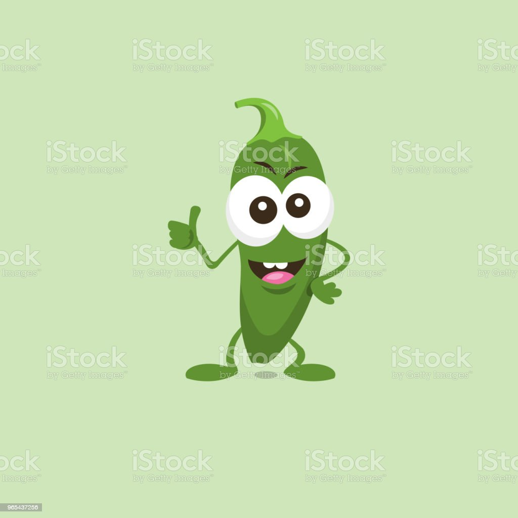 Illustration of cute happy green jalapeno mascot recommends something with big smile royalty-free illustration of cute happy green jalapeno mascot recommends something with big smile stock vector art & more images of art