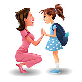 istock Illustration of Cute Little Girl and Mother 1269851839