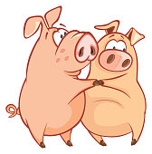 two little cheerful darlings of  pig