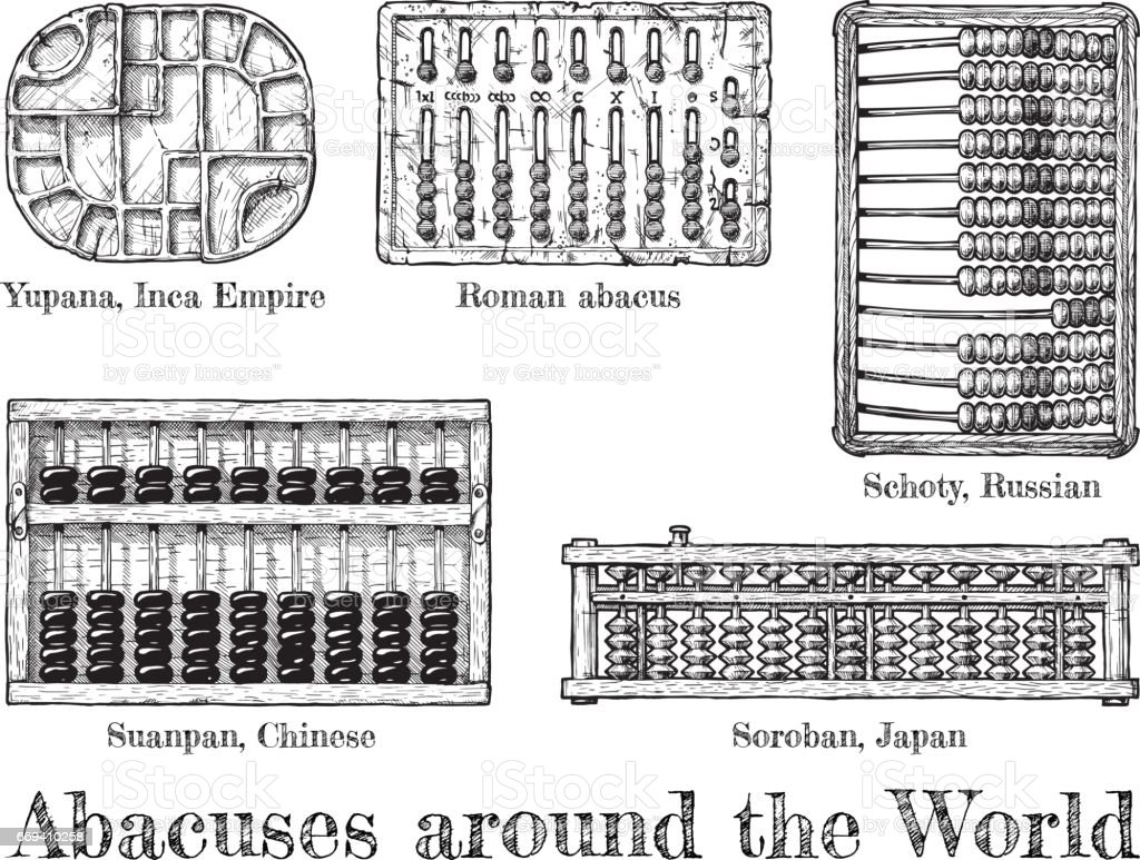 illustration of different  abacus vector art illustration
