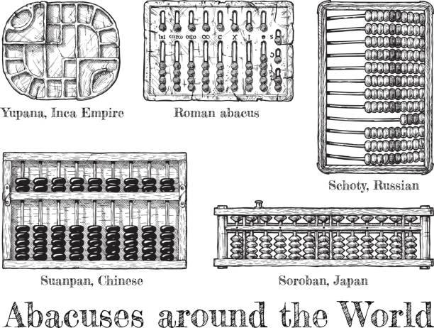 bildbanksillustrationer, clip art samt tecknat material och ikoner med illustration av olika abacus - abakus