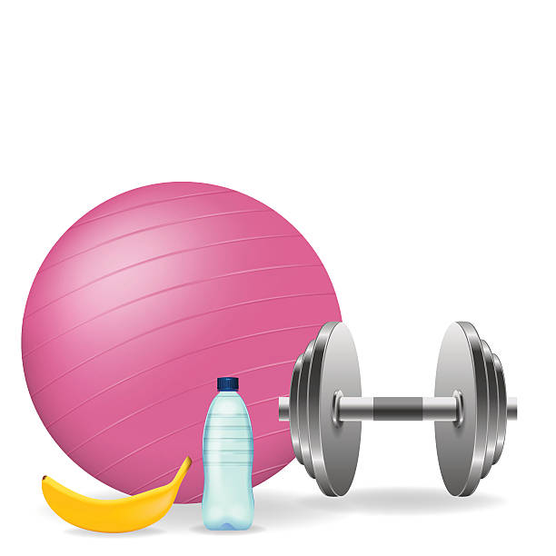 Illustration Of Different Fitness Items On A White Background Vector Art