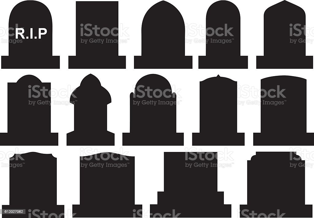 royalty free tombstone clip art  vector images Animated Cartoon Tombstones Tombstone Outline