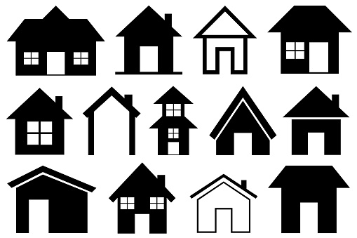 Illustration of different houses