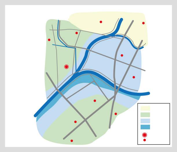 Illustration of disaster hazard map. vector art illustration