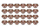 Illustration of dog(face)