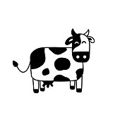 Illustration of doodle cow.