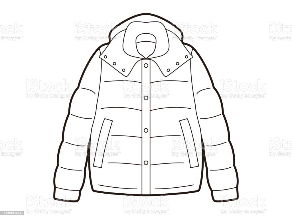 ダウン ジャケットのイラスト イラストレーションのベクターアート素材