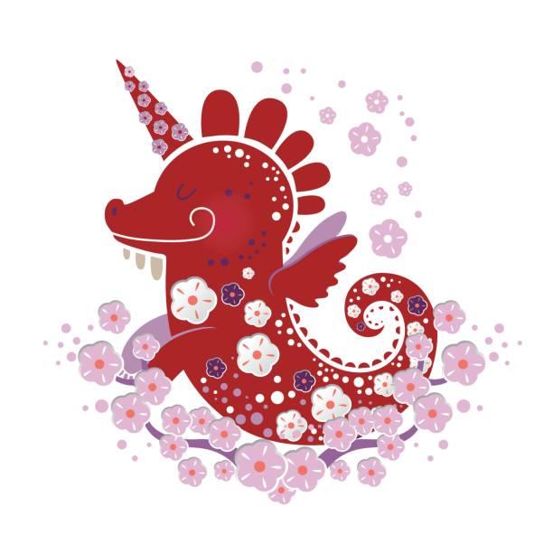 ilustrações de stock, clip art, desenhos animados e ícones de illustration of dragon - unicorn bed