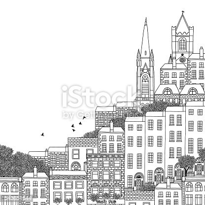 Illustration Of Dublin Stock Vector Art & More Images of Apartment 543651844