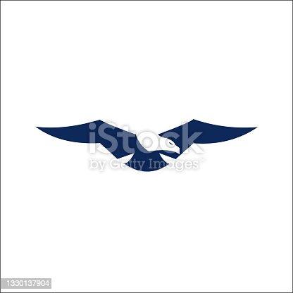 istock Illustration of eagle logo vector template 1330137904