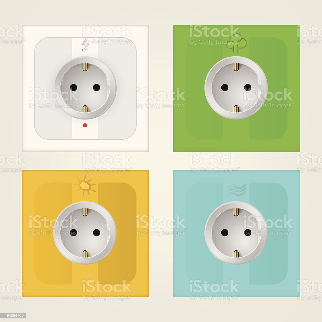 Illustration of eco sockets royalty-free illustration of eco sockets stock vector art & more images of appliance