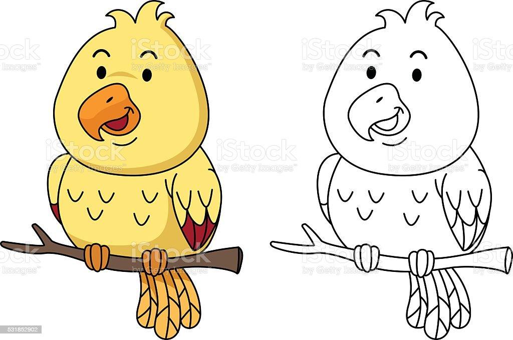 Ilustración de Ilustración De Libro Para Colorear Aves Educativo y ...