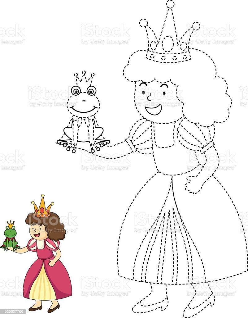 Illustrazione Di Giochi Educativi Per Bambini E Libro Da Colorare