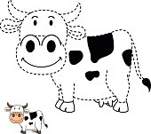 Illustration Of Educational Coloring Bookcow Stock Illustration
