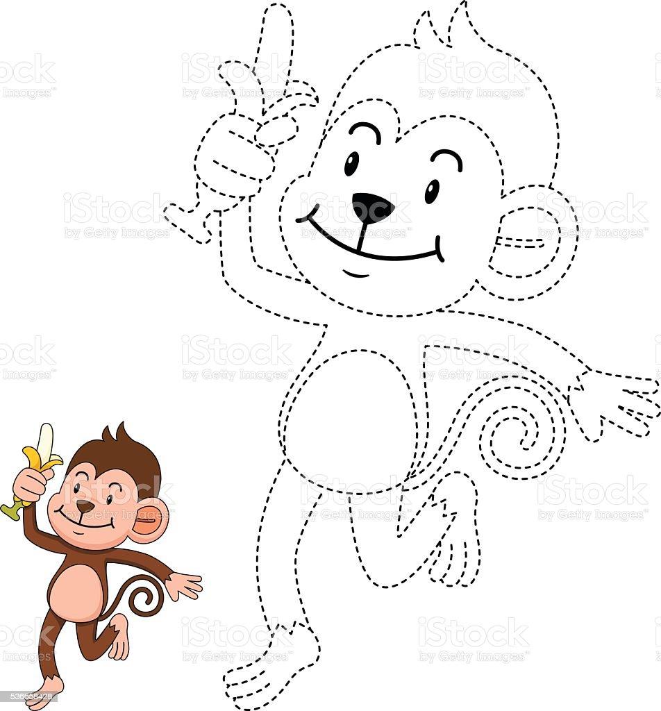 Educación Ilustración De Juegos Para Niños Y Libro Para Colorearmonk ...