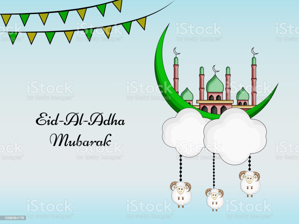 illustration of eidaladha background for the occasion of muslim