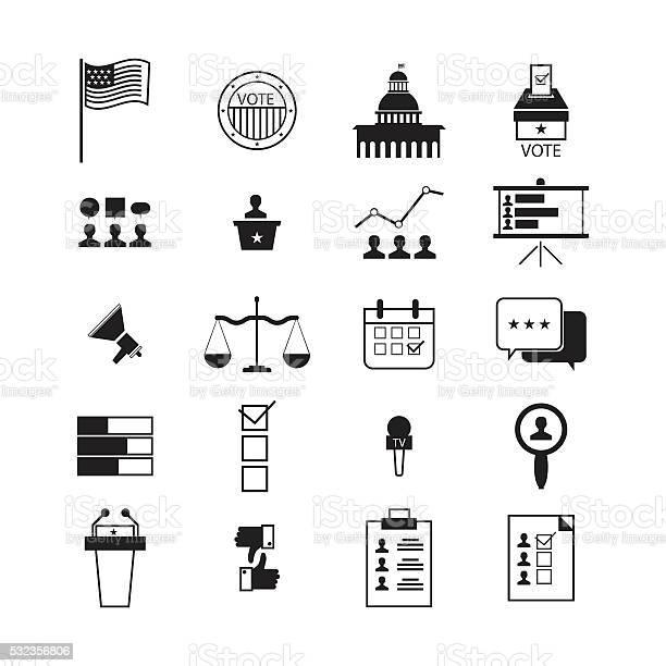 Illustration of election and voting line icons set politics icon vector id532356806?b=1&k=6&m=532356806&s=612x612&h=sc5j79tei yfjrox6nl677bh24bdg024b7kthen54gc=